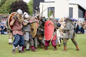 06. Saxons & Vikings clash at the reenactment of the Battle of Wodensfield from 910 AD